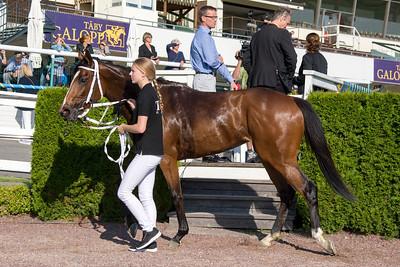Mira Kalejs i vinnarcirkeln | Täby 150707 | Foto: Elina Björklund / Svensk Galopp