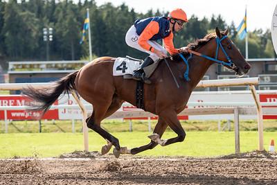 Caspian vinner med Jacob Johansen | Täby 150909 | Foto: Elina Björklund / Svensk Galopp
