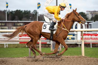 Cordelia vinner med Jacob Johansen | Täby 151206 | Foto: Elina Björklund / Svensk Galopp