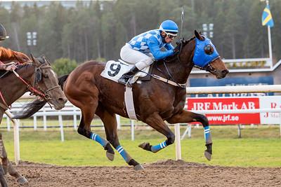 Hidden Hero vinner med Leonard Rios   Täby 151220   Foto: Elina Björklund / Svensk Galopp