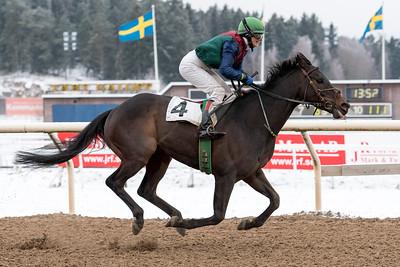 Gotcha vinner med Tina Långström | Täby 160214 | Foto: Elina Björklund / Svensk Galopp