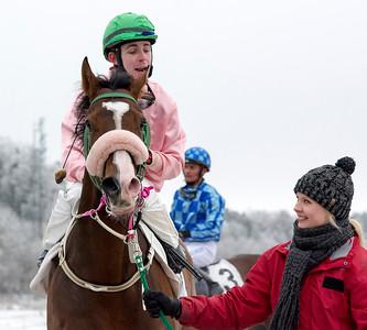 Double Ten och Shane Karlsson | Täby 160214 | Foto: Elina Björklund / Svensk Galopp