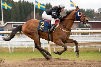 Mindbender vinner med Madeleine Smith   Täby 160427  Foto: Elina Björklund / Svensk Galopp