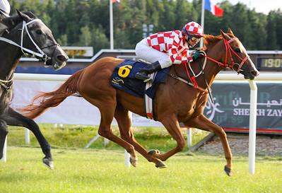 Freja och Manuel Martinez vinner före Tiger Goddess | CINNAMON CHALLENGE | Täby 120710 |  Foto: Stefan Olsson / Svensk Galopp