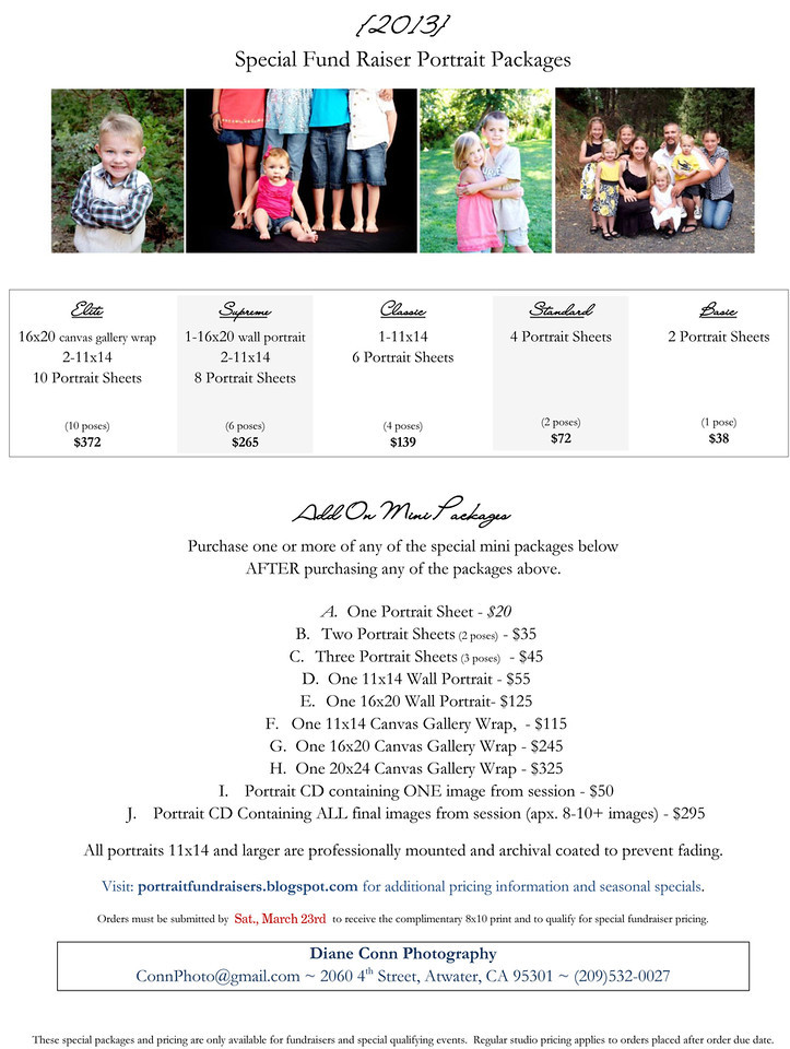 2013 Price Sheet