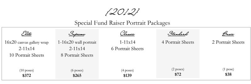 Our Special Portrait Packages are only available until Saturday, August 4th.  Make sure to get your order in on time to get your free 8z10