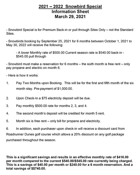 Microsoft Word - Snowbird Special Staff Information Sheet 2021-2022