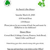 Microsoft Word - St Patricks Dinner Flyer