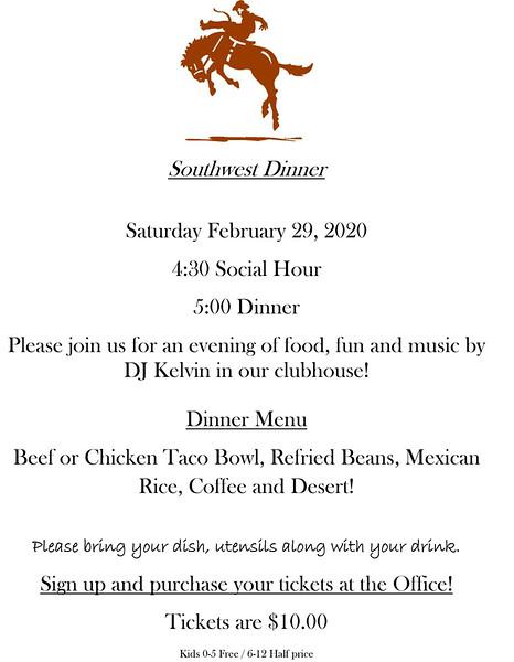 Microsoft Word - Southwest Dinner flyer