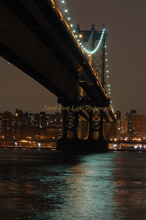 Manhattan Bridge Reflections