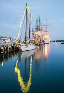 Reflection of Tall Ships