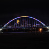 Vikings colors on Lowry bridge