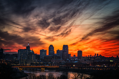 Fire over St. Paul