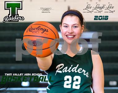 Twin Valley Girls Basketball  Senior Proofs 2018