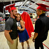 KRISTOPHER RADDER - BRATTLEBORO REFORMER<br /> Troy Felisko, a graduating senior of Twin Valley Middle High School, gets a hug from his cousin, Jessica Weaver, from Wilmington, N.C.,  before the start of the commencement ceremony on Saturday, June 10, 2017.