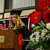 KRISTOPHER RADDER - BRATTLEBORO REFORMER<br /> The Twin Valley Middle High School Class of 2017 valedictorian Caitlin Hunt delivers her speech during the commencement ceremony on Saturday, June 10, 2017.