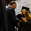 KRISTOPHER RADDER - BRATTLEBORO REFORMER<br /> Gabrielle Gramazio, a graduating senior of Twin Valley Middle High School, smiles when receiving her diploma during the commencement ceremony on Saturday, June 10, 2017.