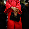 KRISTOPHER RADDER - BRATTLEBORO REFORMER<br /> Chad Bernard, a graduating senior of Twin Valley Middle High School,  holds onto his diploma during the commencement ceremony on Saturday, June 10, 2017.