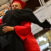 KRISTOPHER RADDER - BRATTLEBORO REFORMER<br /> Chad Bernard, a graduating senior of Twin Valley Middle High School, hugs principal Thomas Fitzgerald during the commencement ceremony on Saturday, June 10, 2017.