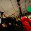 KRISTOPHER RADDER - BRATTLEBORO REFORMER<br /> Confetti flies, and graduates celebrate during the conclusion of the 2017 Twin Valley Middle High School's commencement ceremony on Saturday, June 10, 2017.