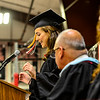KRISTOPHER RADDER - BRATTLEBORO REFORMER<br /> The Twin Valley Middle High School Class of 2017 salutatorian Kassidy Walkowiak delivers her speech during the commencement ceremony on Saturday, June 10, 2017.