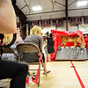 KRISTOPHER RADDER - BRATTLEBORO REFORMER<br /> The Twin Valley Middle High School Class of 2017 unveils a statue of a wildcat, their class gift to the school, during the commencement ceremony on Saturday, June 10, 2017.