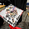 KRISTOPHER RADDER - BRATTLEBORO REFORMER<br /> Samantha Morse, a graduating senior of Twin Valley Middle High School, shows off her cap before the start of the commencement ceremony on Saturday, June 10, 2017.
