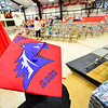KRISTOPHER RADDER - BRATTLEBORO REFORMER<br /> Chad Bernard, a graduating senior of Twin Valley Middle High School, shows off his cap before the start of the commencement ceremony on Saturday, June 10, 2017.