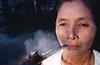 """Portrait d'une villageoise membre de la communauté des """"Twin Zar"""". Ile d'East Phayonka/Etat de l'Arakan/Birmanie (Myanmar)"""