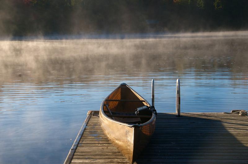 Canoe on the Dock