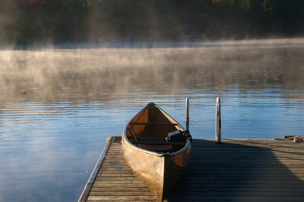 Canoe on the Dock