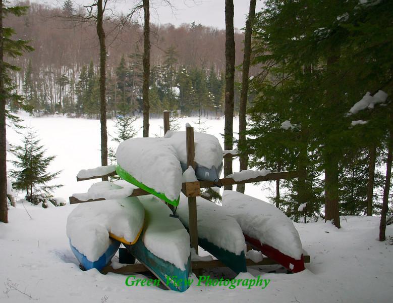 Kayaks on the Rack