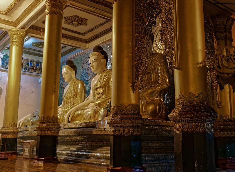 More Buddhas in <i>bhumisparsa mudra</i>