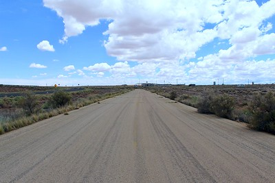 Historic Route 66 approaching Two Guns, Arizona (2018)