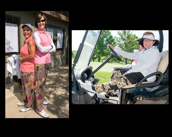 Dee Johnson and Dee Robertson were stylin' as scramble partners... Janet Allen wore her Tiger leggings to Columbia!