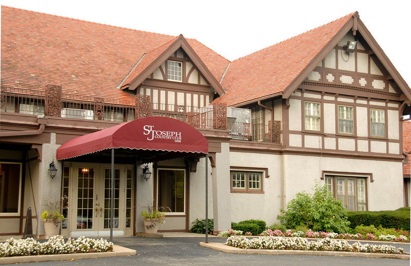 St. Joseph Country Club was built in the early 1900s, opening their golf course in 1913 and remains a landmark in this historical city.