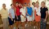 A Flight Winners:<br /> Marcella Rose/Pat Fuqua, Peggy Muenster/Vickie Wolken, Juanita Janssen/Bev Cockrell, Bonnie Green/Nancy Schriner, and Marcia Azan /Linda Alcorn