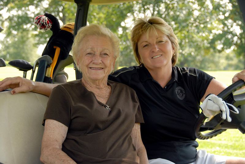 Honorary Life Member Johnie Imes from Osage Beach with her partner Barbara Blankenship of Centertown, MO.