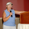 MWGA Tournament Director Pat Hutton announces the flight winners during the luncheon.