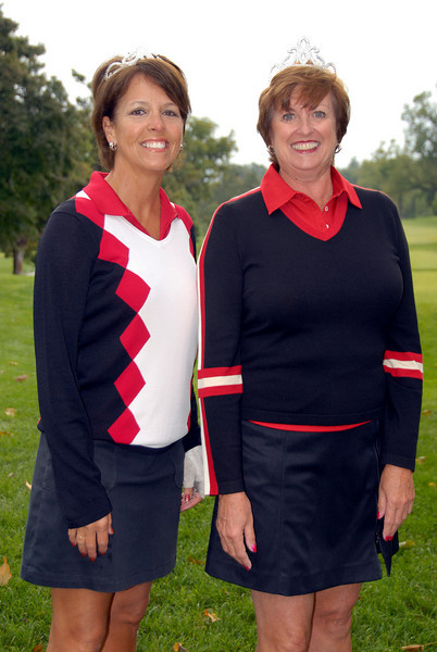 Peggy Muenster and Vicki Wolken were the 2006 Two Lady Scramble winners and modeled the tiaras they will present the new champions....