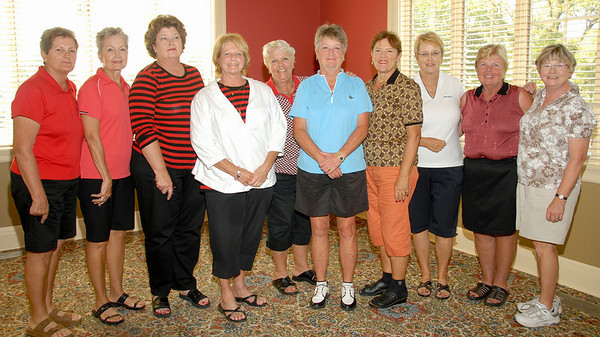 C Flight Winners:<br /> Olive Malter/Judy Schroeder, Jackie Runyan/Leslie Marsden-Kruse, Kim Ebling/Sue Ogg, Janice Ohmes/Janet Bolick, and Janet Allen/Dena Romberg.