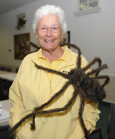 President Jayne Watson brought a friend with her to the membership meeting in the spirit of Halloween!