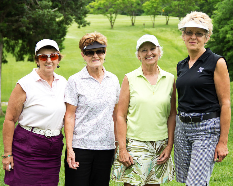 Karen Heisel, Margaret Sanders, Carolyn Little and Colleen James
