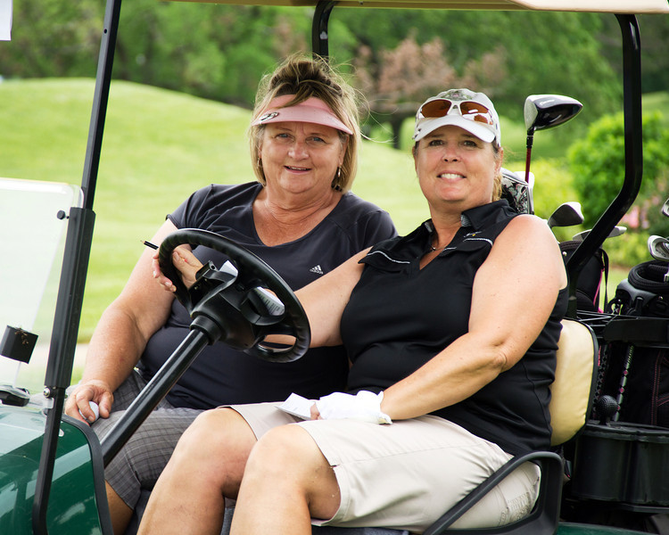 Marilyn Baumhoer and Deb Sawyer from Meadowlake Acres