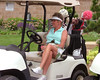 Rules Director Cissy LeGear enjoying some golf for a change!