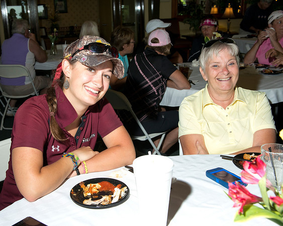 Alisha Matthews just graduated from SIU and is enjoying her first Two Lady Scramble with partner Rose Foster.