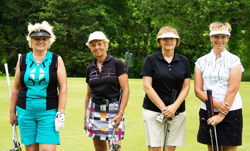 Judy Tindall, Carole Carpenter, Rose Kaiser and Pam Knoll