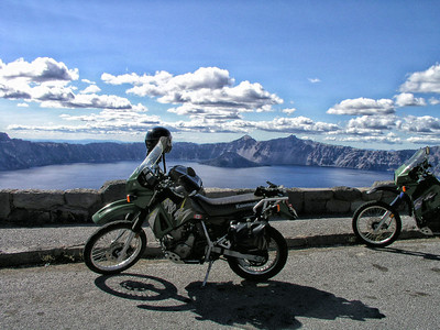 bike pose - Darice's 2003 KLR
