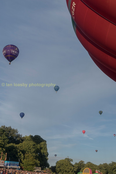 Mass balloons over Bristol