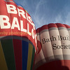 Locals!  The balloon on the right is one of the Bristol based Ballooning Networking Ltd, Cameron Z-350 built in 2007